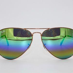 Ray Ban Sunglasses RB 3025 Aviator Large Metal 901